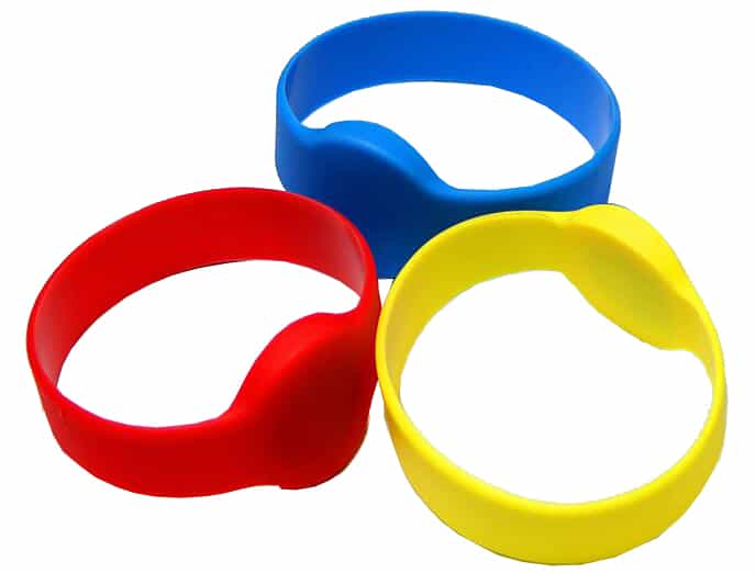 round rfid silicone wristband