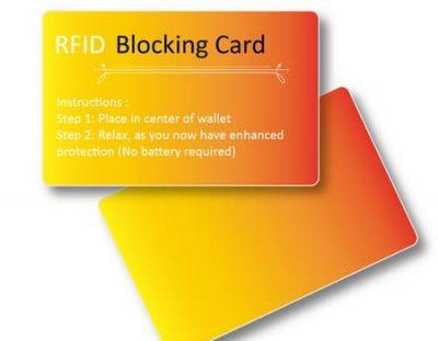 blocking cards rfid
